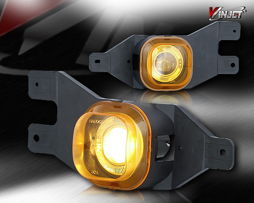 Ford Super Duty  1999-2004 Yellow Halo Projector Fog Lights