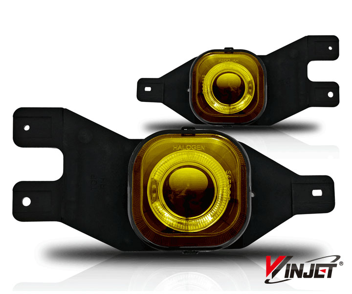 Ford Excursion  2001-2004 Yellow Halo Projector Fog Lights