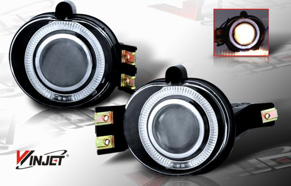 Dodge Ram  2002-2008 Clear Halo Projector Fog Lights