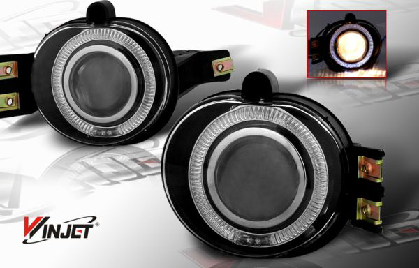 Dodge Ram 2002-2005 Smoked Halo Projector Fog Lights