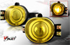 Dodge Ram  2002-2008 Yellow Halo Projector Fog Lights