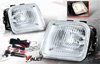 Honda Civic  1996-1998 Clear OEM Fog Lights (wiring Kit Included)