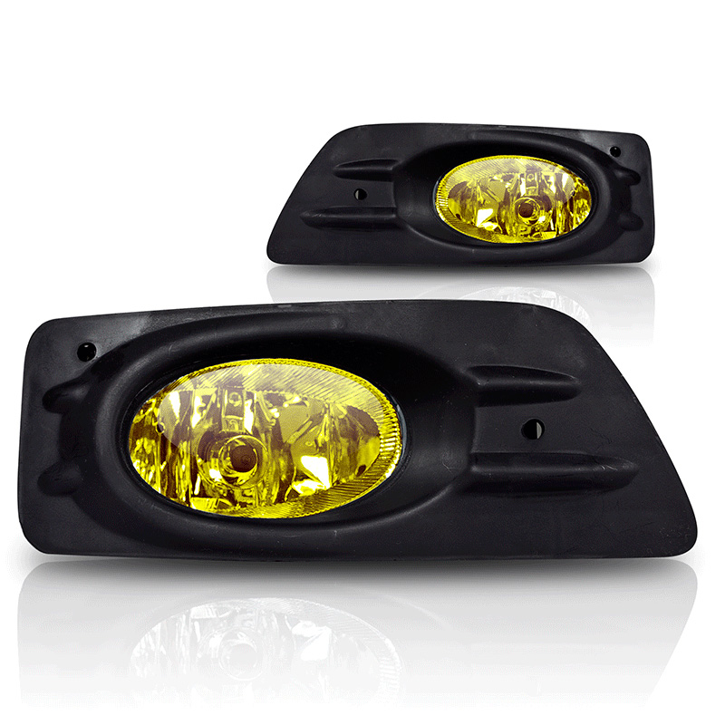Honda Accord 4dr 2006-2007 Yellow OEM Fog Lights (wiring Kit Included)