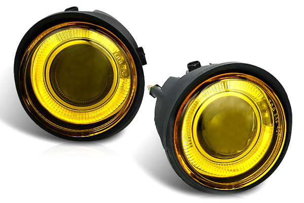 Nissan Altima  2002-2004 Yellow Halo Projector Fog Lights