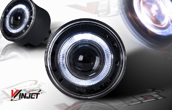 Jeep Grand Cherokee 2004-2007 Clear Halo Projector Fog Lights