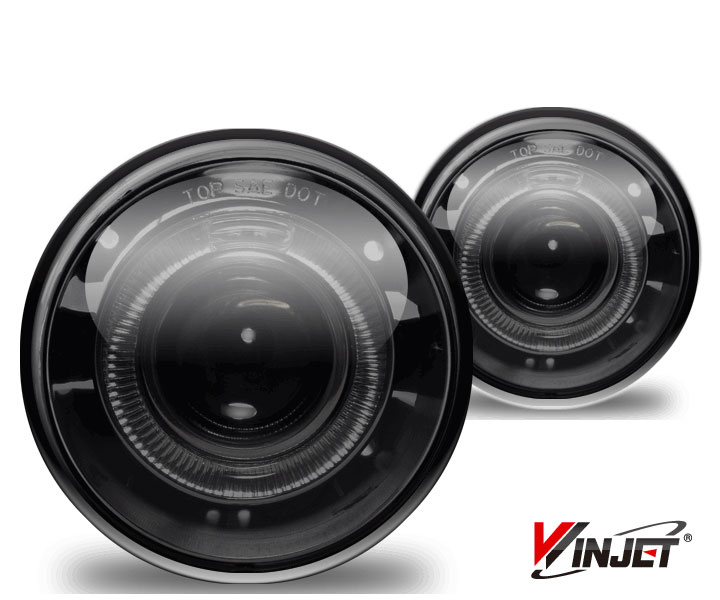 Chrysler 300C  2005-2009 Smoke Halo Projector Fog Lights (5.7l W/O Touring W/Washer Holes)