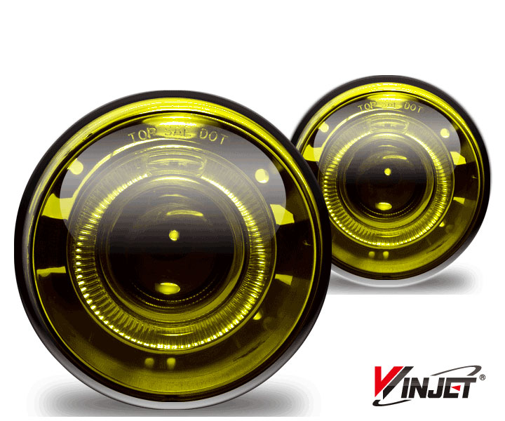 Dodge Dakota  2005-2009 Yellow Halo Projector Fog Lights