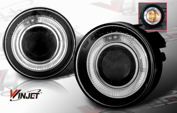 Dodge Dakota 2001- 2004 Halo Smoked Projector Fog Lights