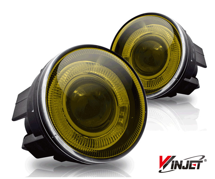 Dodge Durango  2001-2004 Yellow Halo Projector Fog Lights