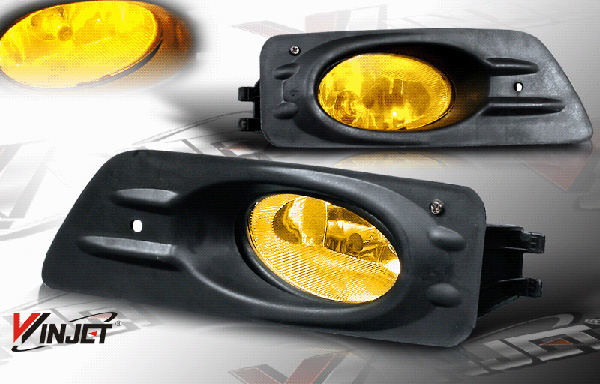 Honda Accord 2dr 2006-2007 Yellow OEM Fog Lights (wiring Kit Included)