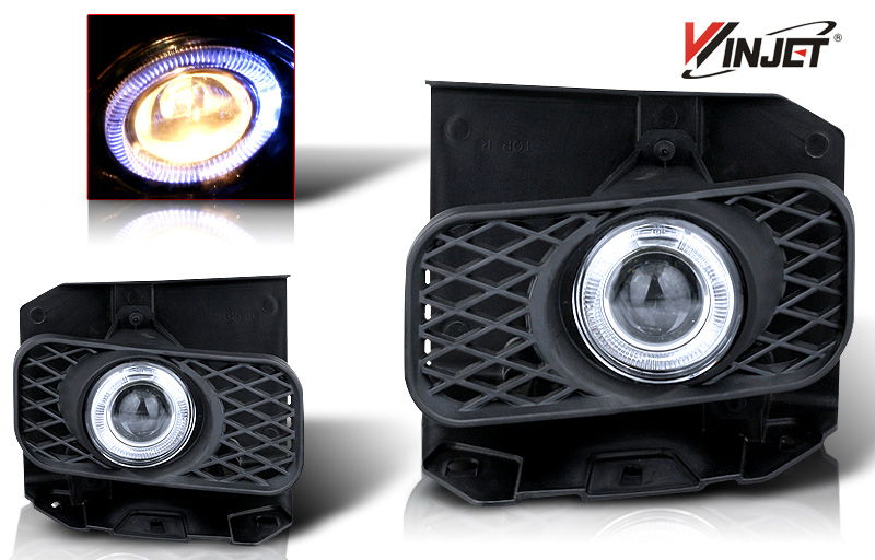 Ford F150 Xl/Xlt/Lariat 1999-2004 Clear Halo Projector Fog Lights (excl Stx)