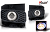 Ford F150 Xl/Xlt/Lariat 1999-2004 Smoke Halo Projector Fog Lights (excl Stx)