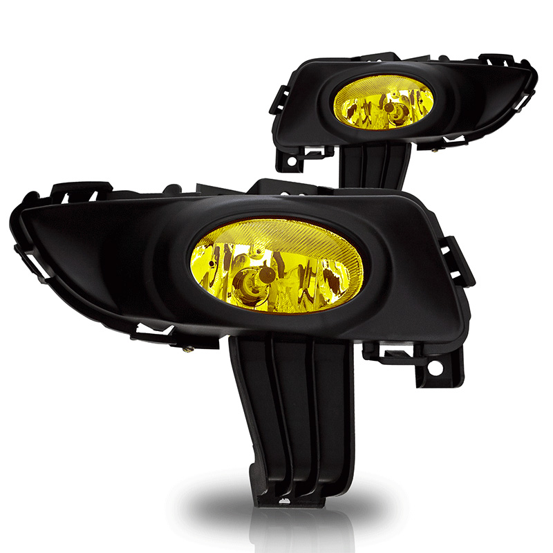 Mazda Mazda 3 4dr 2003-2005 Yellow OEM Fog Lights (wiring Kit Included)