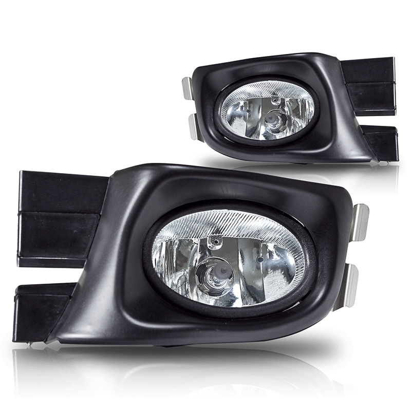Honda Accord 4dr 2003-2005 Clear OEM Fog Lights (wiring Kit Included)