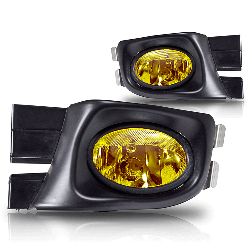 Honda Accord 4dr 2003-2005 Yellow OEM Fog Lights (wiring Kit Included)