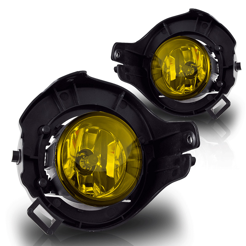 Nissan Frontier  2005-2010 Yellow OEM Fog Lights (painted Bumper)