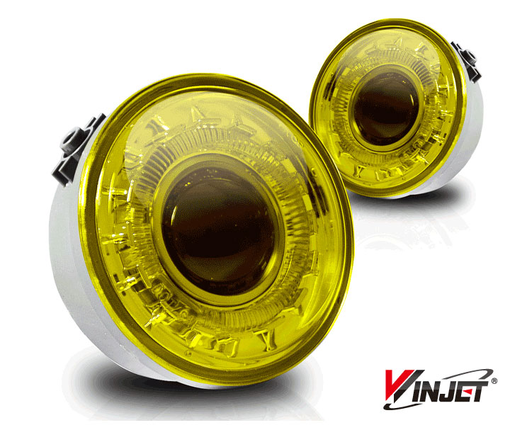 Ford F150  2006-2008 Yellow Halo Projector Fog Lights