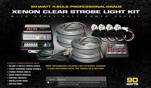 Xenon Strobe Light Kit- 90 Watts Clear Bulbs