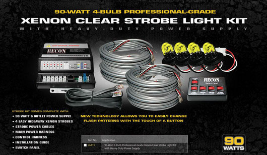 Xenon Strobe Light Kit- 90 Watts AMBER Bulbs