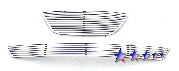 Hyundai Sonata  2009-2010 Polished Main Upper + Lower Bumper Perimeter Grille