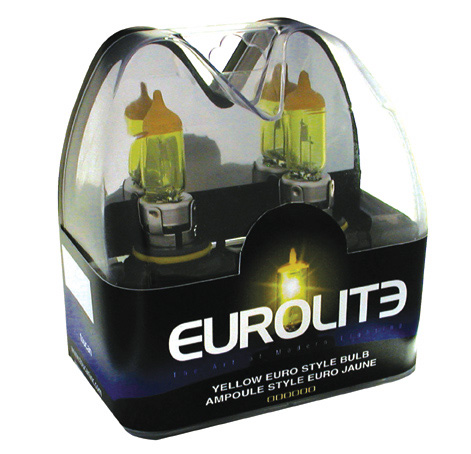9007 Yellow JDM Headlight Bulbs by Eurolite