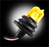 AMBER 90-Watt Strobe Light Bulb