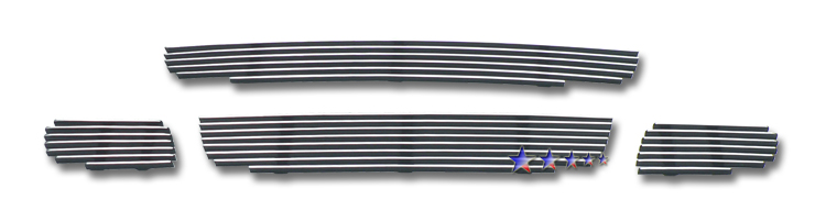 Smart Fortwo  2008-2012 Polished Main Upper + Lower Bumper Aluminum Billet Grille