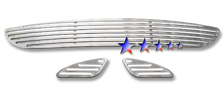 Mercedes Benz E Class  2003-2006 Polished Lower Bumper Perimeter Grille