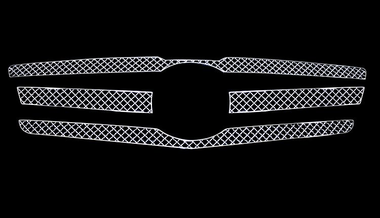 Mercedes Benz Glk350  2010-2011 Chrome Main Upper X Mesh Grille